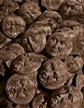 Ceramic Faces at the El Mercado