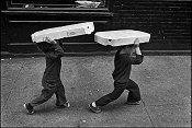 Gary Bishop, Two Children Walking with Boxes on their Heads